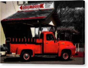 Red Truck Jimtown Store Canvas Print by Garry Gay