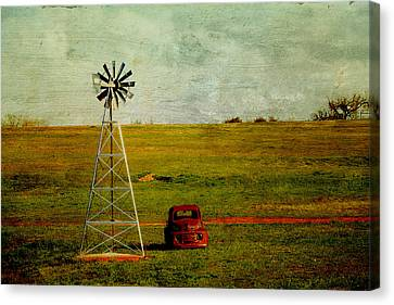 Red Truck Red Dirt Canvas Print by Toni Hopper
