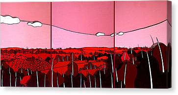 Red Tuscan Longview Canvas Print by Jason Charles Allen