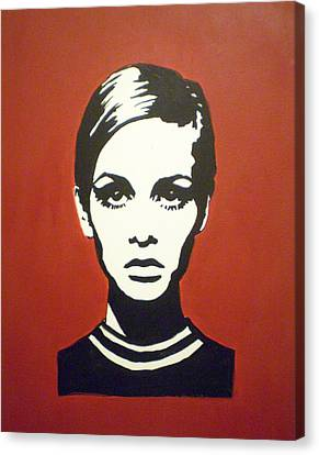 Red Twiggy Canvas Print by Ruth Oosterman