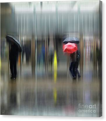 Canvas Print featuring the photograph Red Umbrella by LemonArt Photography