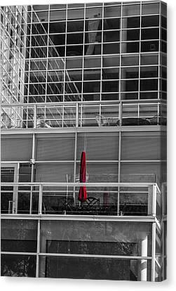 Red Umbrella - Madison Wisconsin Canvas Print by Steven Ralser
