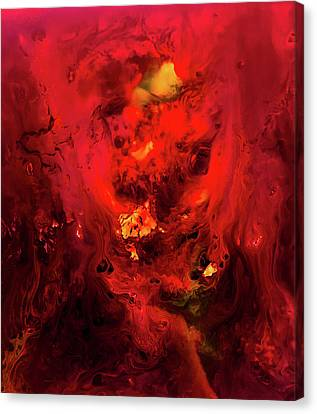 Red Universe Canvas Print