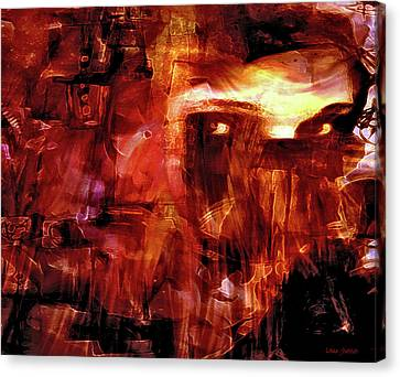 Canvas Print featuring the photograph Red Veil by Linda Sannuti
