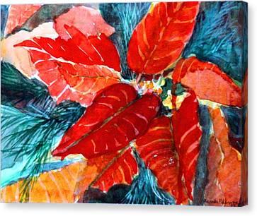 Red Velvet Christmas Canvas Print