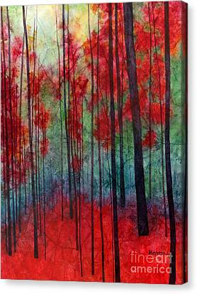 Bare Trees Canvas Print - Red Velvet by Hailey E Herrera