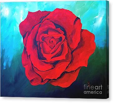 Red Velvet Canvas Print by Herschel Fall