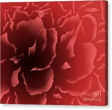 Red Velvet Peony Canvas Print