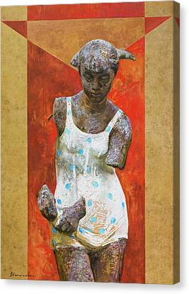Red Venus Canvas Print by Victoria Kharchenko