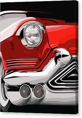 Red Vintage Cadillac Canvas Print