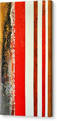 Red Vs Metallix Canvas Print by Nicky Dou