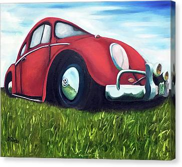 Red Vw Canvas Print