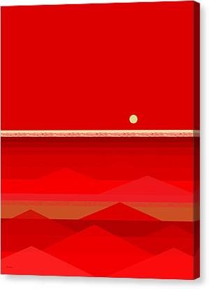 Red Waves Canvas Print