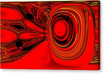 Red Whirls Abstract Canvas Print by Jeff Swan