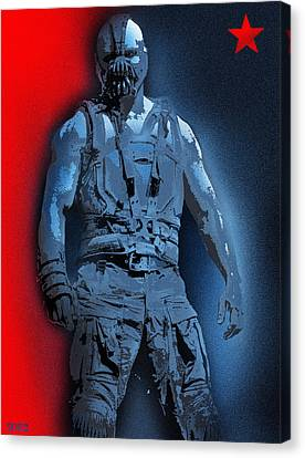 Red White And Bane Canvas Print