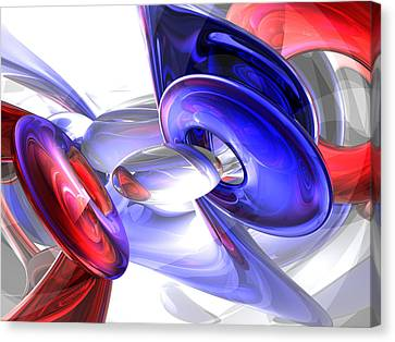 Red White And Blue Abstract Canvas Print by Alexander Butler