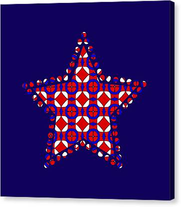 American Independance Canvas Print - Red White And Blue by Becky Herrera