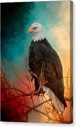 Red White And Blue Eagle Canvas Print by Gene Wick