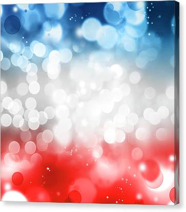 Red White And Blue Canvas Print by Les Cunliffe