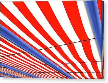 Canvas Print featuring the photograph Red White And Blue by Paul Wear
