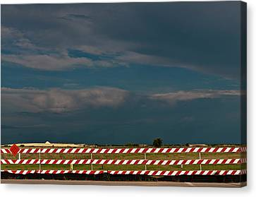Canvas Print featuring the photograph Red White And Blue by Robert Harshman