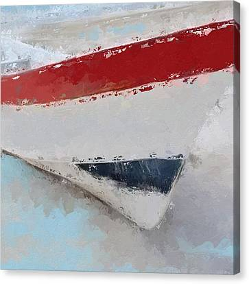 Sailing Canvas Print - Red White And Blue Starboard  by Anthony Fishburne