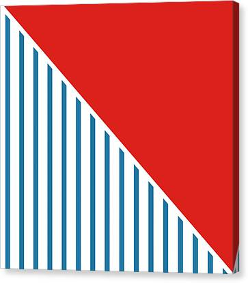 Red White And Blue Triangles 2 Canvas Print