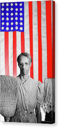 Red White Black And Blue Super Tall Canvas Print by Tony Rubino