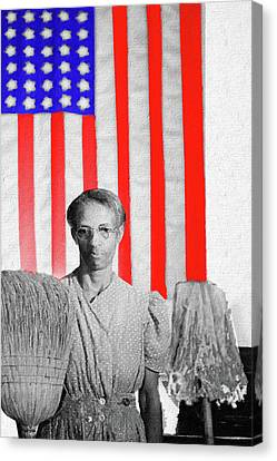 Red White Black And Blue Canvas Print by Tony Rubino