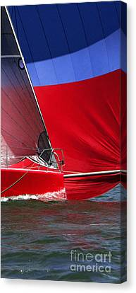 Red White Blue And Water Canvas Print by Sandy Byers