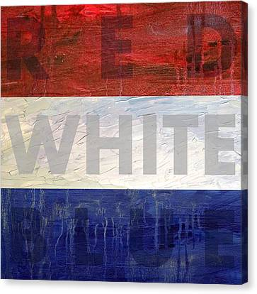 Festival Canvas Print - Red White Blue by Michelle Calkins