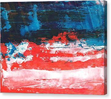 Red White Blue Scene Canvas Print