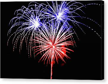 Pyrotechnic Canvas Print - Red White N Blue  by Marnie Patchett