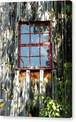 Canvas Print featuring the photograph The Red Window by Sandi OReilly