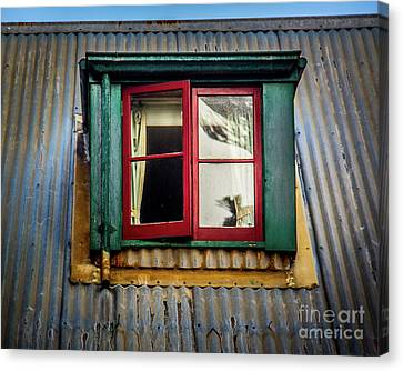 Canvas Print featuring the photograph Red Windows by Perry Webster