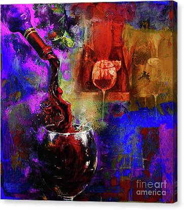 Red Wine 02 Canvas Print by Gull G