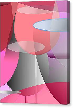Red Wine Abstract Canvas Print