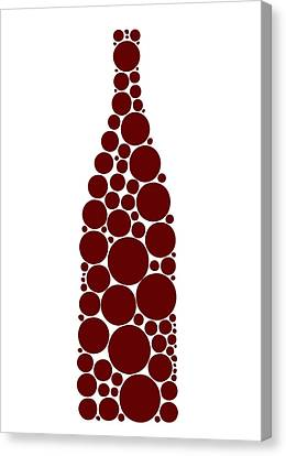 Red Wine Bottle Canvas Print by Frank Tschakert