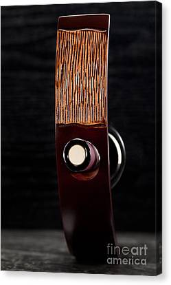 Wine Canvas Print - Red Wine Bottle In Luxury Holder by Wolfgang Steiner