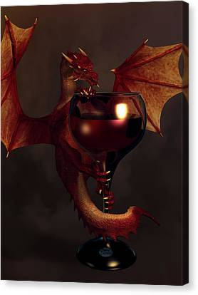 Red Wine Dragon Canvas Print by Daniel Eskridge