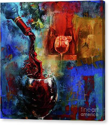 Vino Canvas Print - Red Wine by Gull G
