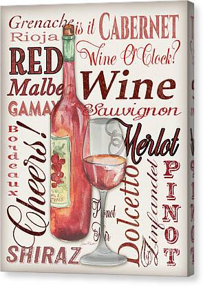 Malbec Canvas Print - Red Wine-jp3975 by Jean Plout