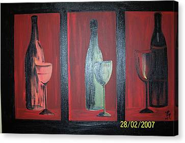 Red Wine Canvas Print by Martha Mullins