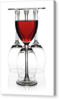 Red Wine Canvas Print by Pics For Merch
