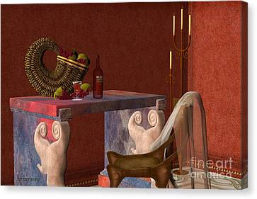 Red Wineglass Canvas Print by Corey Ford