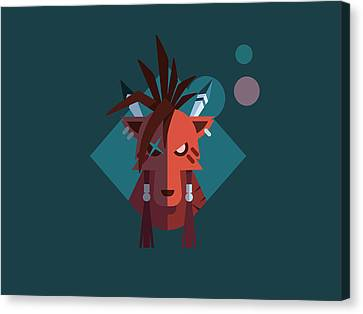 Canvas Print featuring the digital art Red Xiii by Michael Myers