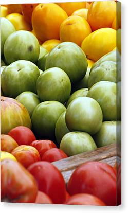 Red Yellow Green Canvas Print by Alan Todd