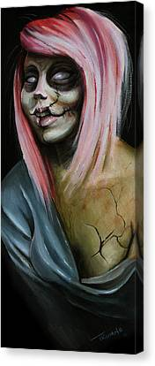 Red Zombie Canvas Print by Matt Truiano