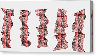 Red.336 Canvas Print by Gareth Lewis