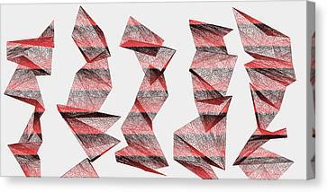 Coal Canvas Print - Red.340 by Gareth Lewis